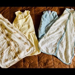 Four Baby SleepSacks